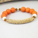 Giveaway | Orange Jade Bracelet from Pop-Up Market