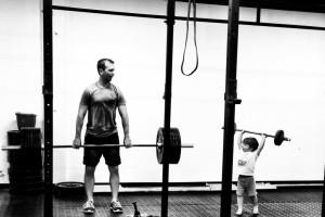 Dad and Jack at enduraLAB
