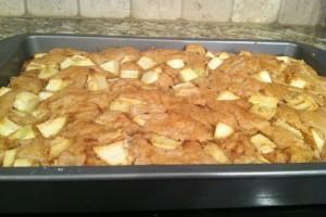 apple cake after