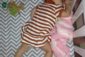 Amber Shawver sleeping baby