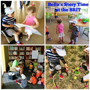 Bella's Story Time Collage