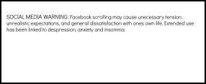 social media warning
