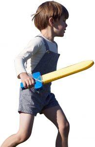 Soft swords can make a safe, fun sword for kids.
