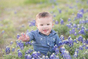 Baby in bluebonnets