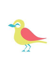 Happy Lark Bird - Full Color