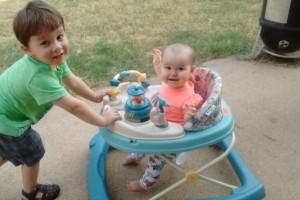 two kids playing
