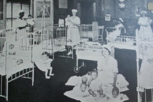 Babies with nurses inside HC