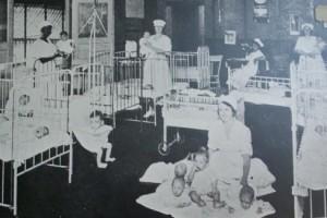 Babies with nurses inside HC