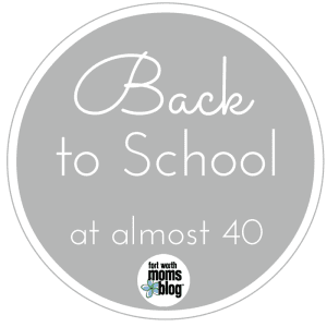 back to school at 40