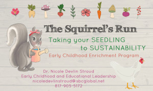 The Squirrels Run - Taking your Seedling to Sustainability Business Card