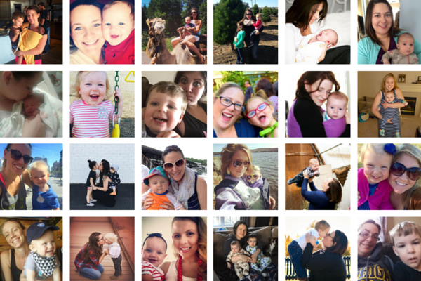 Moms and Babies Collage