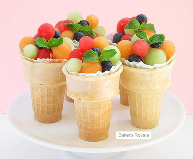 Blackmon Mooring Fruit Ice Cream Cones