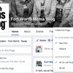 Keeping Up with Fort Worth Moms Blog on Facebook