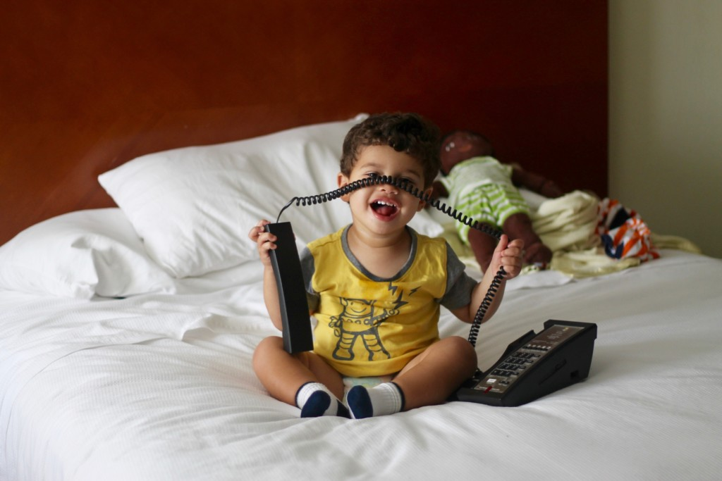 toddler travel hotel phone