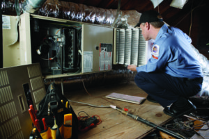 Calverley Heating and Air in the attic