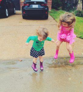playing in rain
