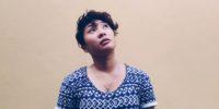 woman sad looking up, depressed, thinking
