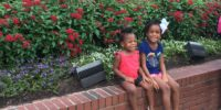 Girls outside Dollywood