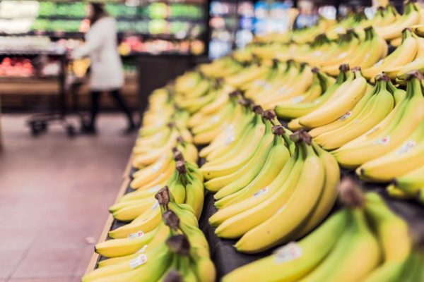 grocery, bananas, food, grocery store
