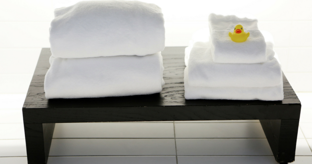 towels and rubber duck