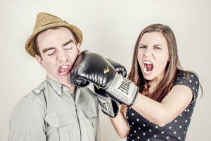 boxing, fighting, arguing, couple