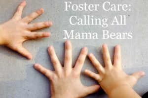childrens hands, mama bear