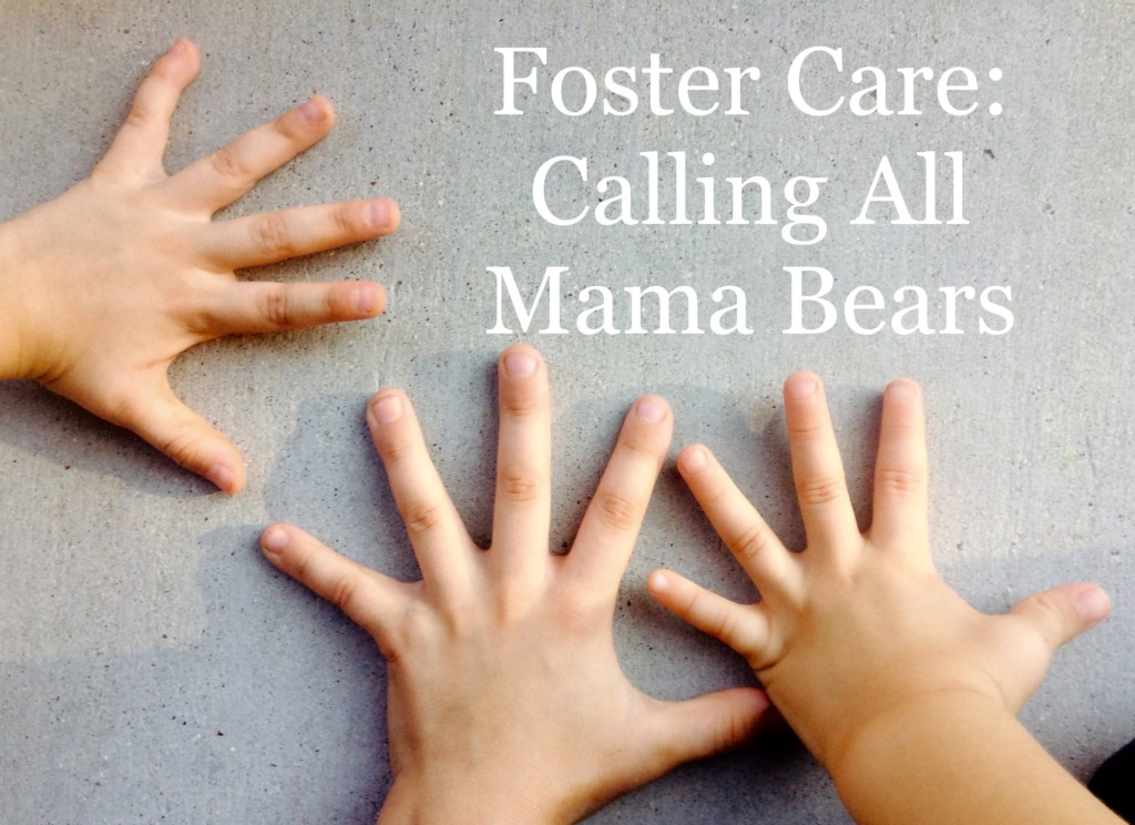 childrens hands, mama bear