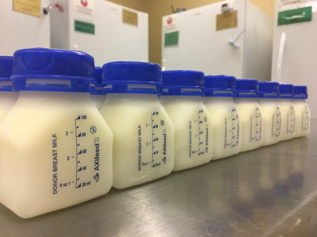 Milk bank mothers milk jugs