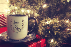 Coffee Mug and Christmas Tree