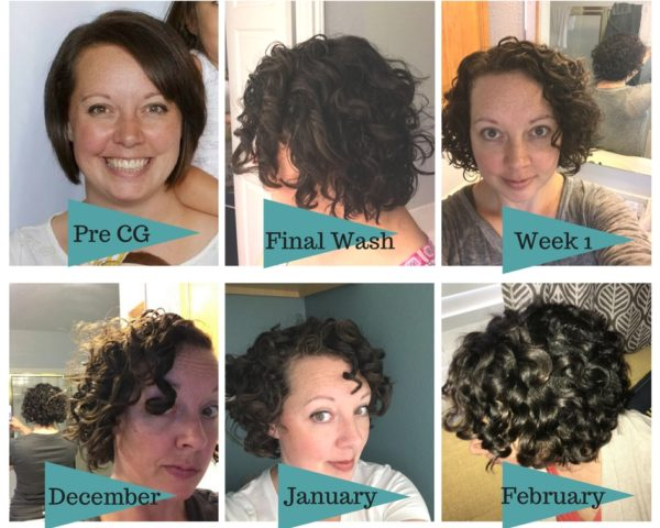 curly hair selfie transformation