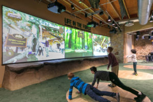 River Legacy Living Science Center Discovery Room interactive screen