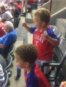 Texas Rangers fans - kids
