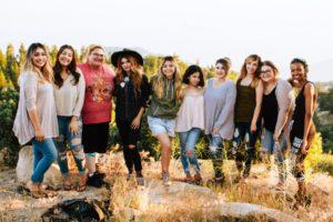 group of teen girls