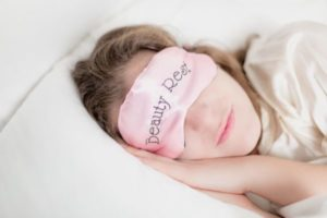 woman sleeping pillow, sleep mask