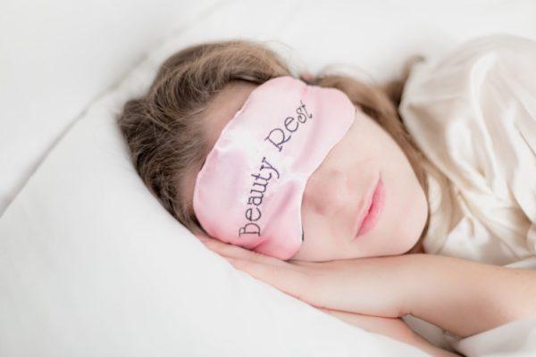 woman sleeping pillow, sleep mask