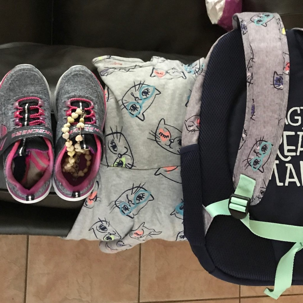 clothes backpack first day school