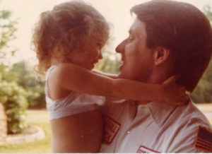 old photo daddy daughter