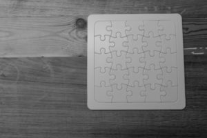 black and white puzzle, cultural identity