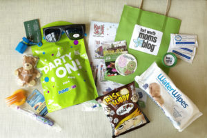swag bag from Birthday Bash at the BRIT