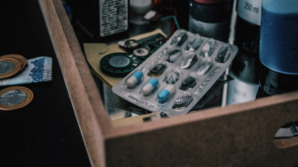 Pills in Drawer