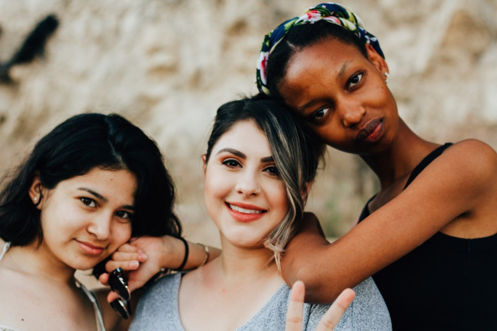 Three Girls Peace Sign