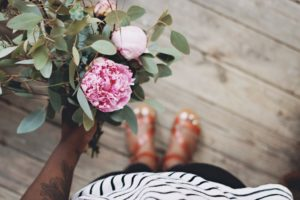 Peony in Hand