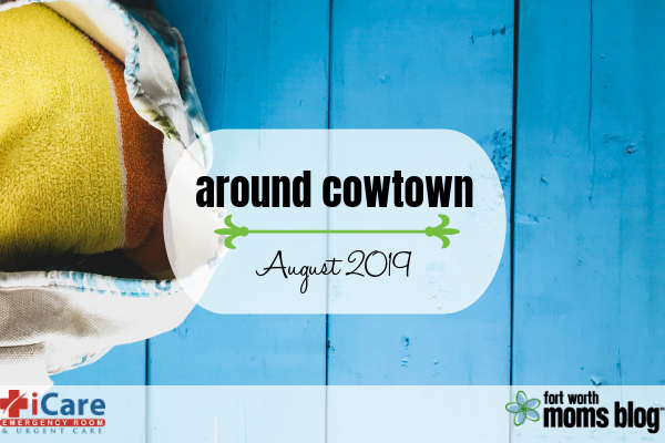 Around Cowtown: beach bag opened with towel inside