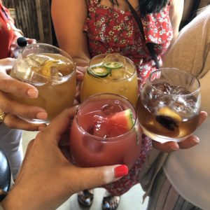 cheers on a girls night out