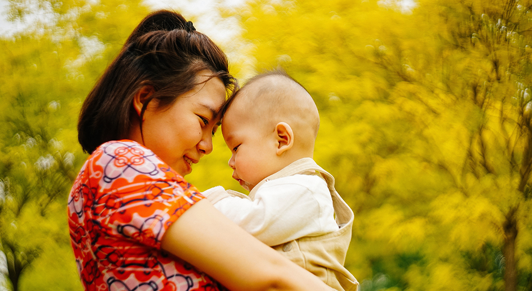 Hugging and touching your child can help your connection and relationship.