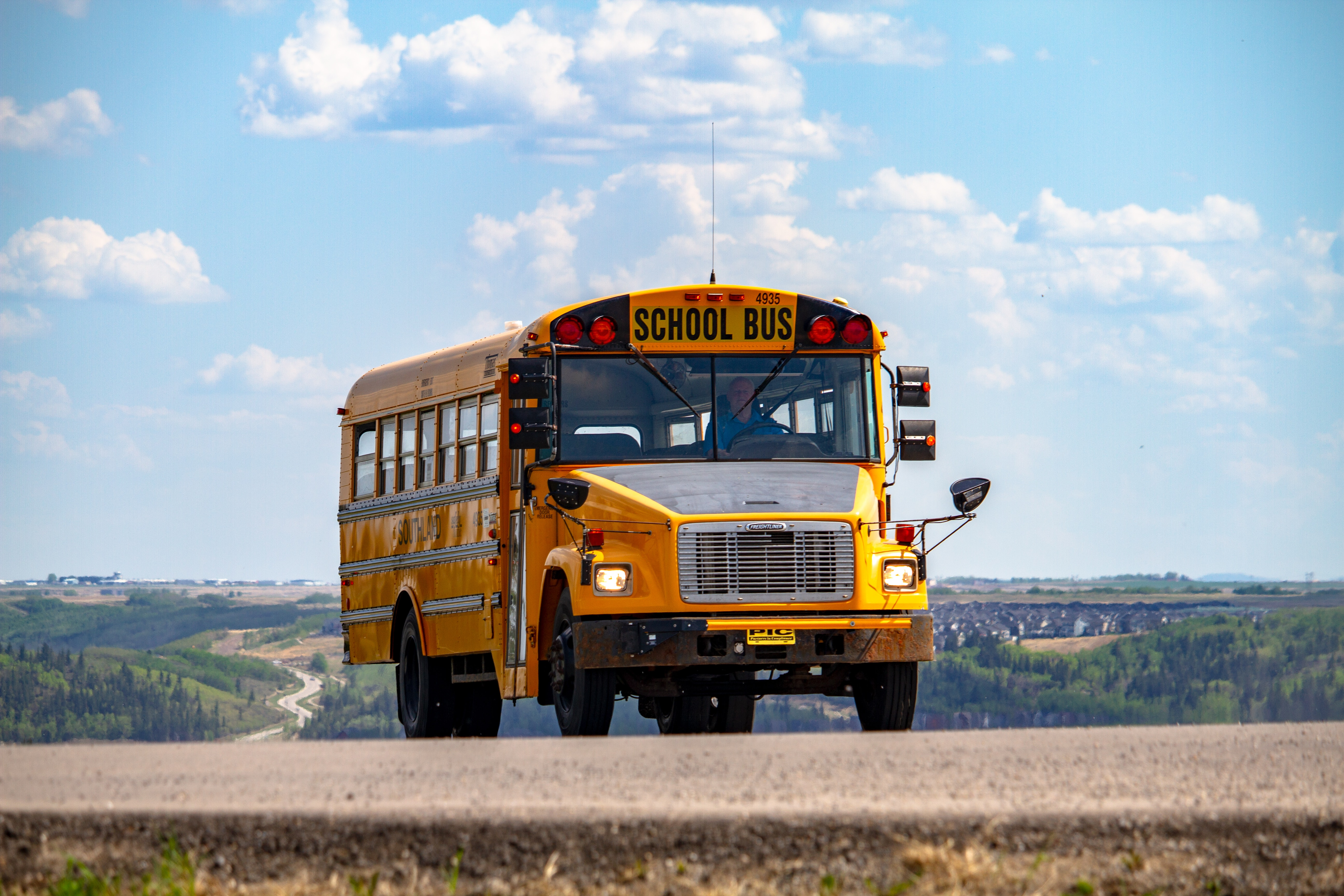 school bus sky