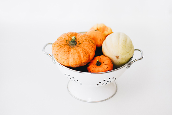 pumpkins in a colander