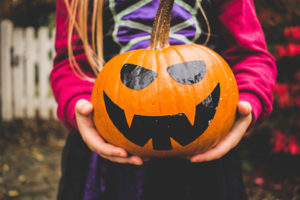 Try using stickers or paint to decorate pumpkins this Halloween to avoid a trip to the emergency room.