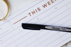 Creating a weekly planner can make your week run smoother.