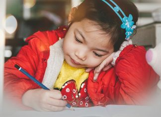 Track your child's developmental milestones, like writing.